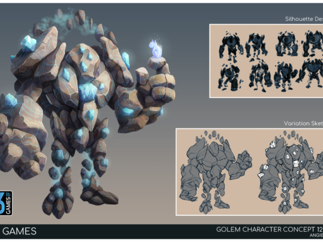 concept art game creature golem illustration