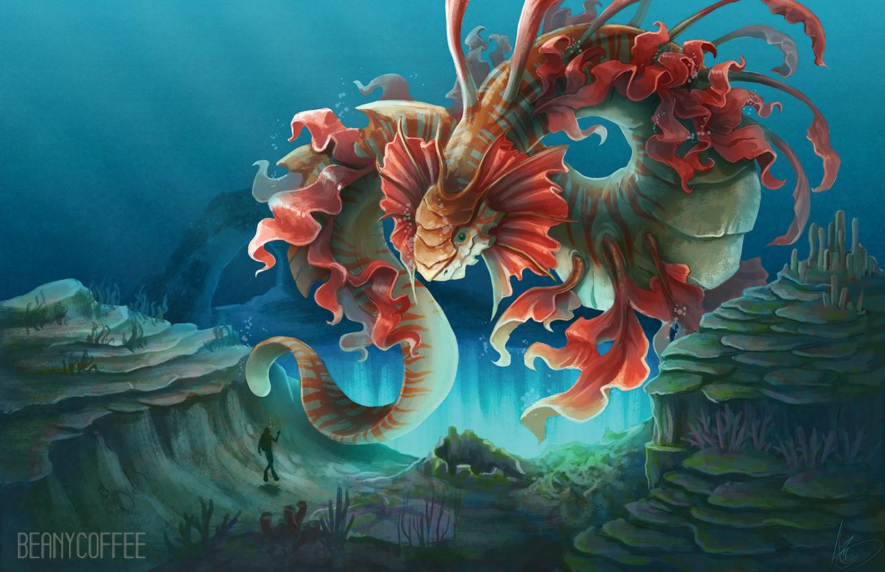 dragon fantasy illustration