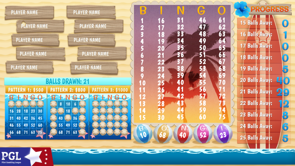 Bingo Surf Theme Main Layout